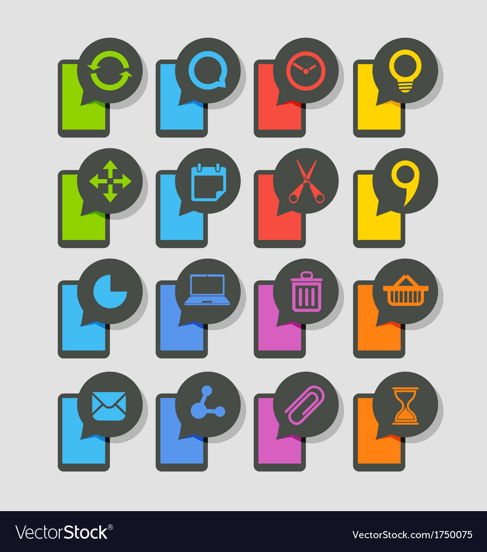 Modern smartphones with icons vector | Price: 1 Credit (USD $1)