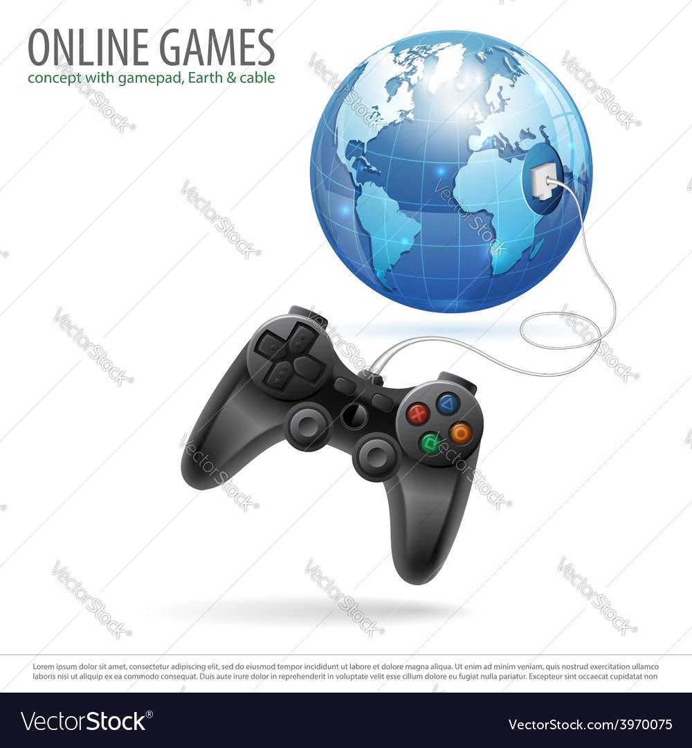 Online games vector | Price: 3 Credit (USD $3)