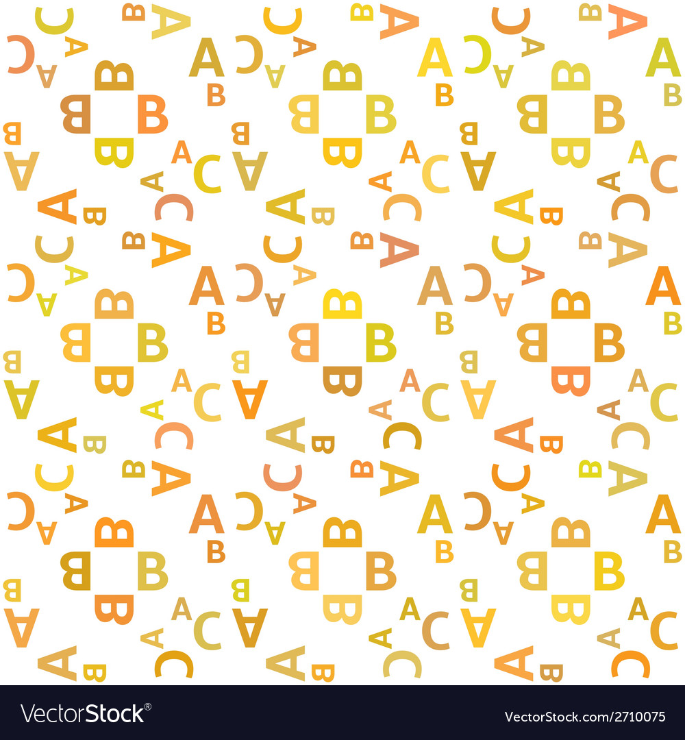 Seamless pattern with alphabet vector | Price: 1 Credit (USD $1)