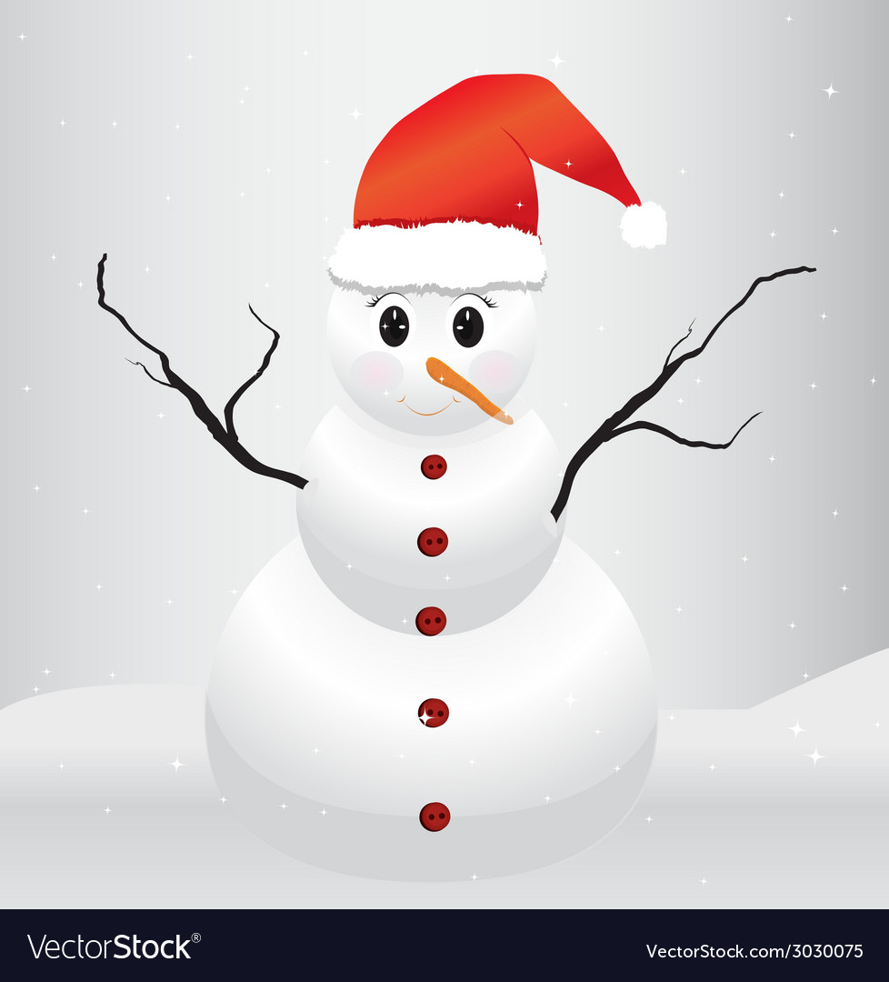 Snowman background vector | Price: 1 Credit (USD $1)