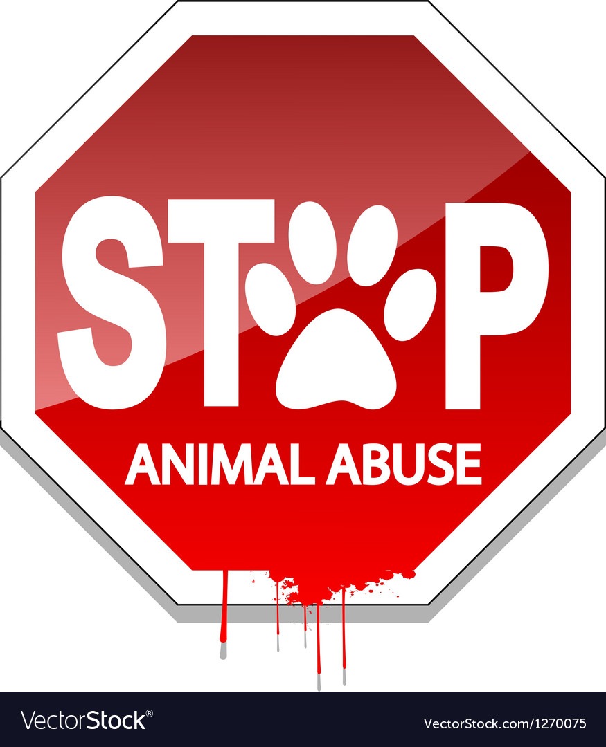 Stop animal abuse vector | Price: 1 Credit (USD $1)