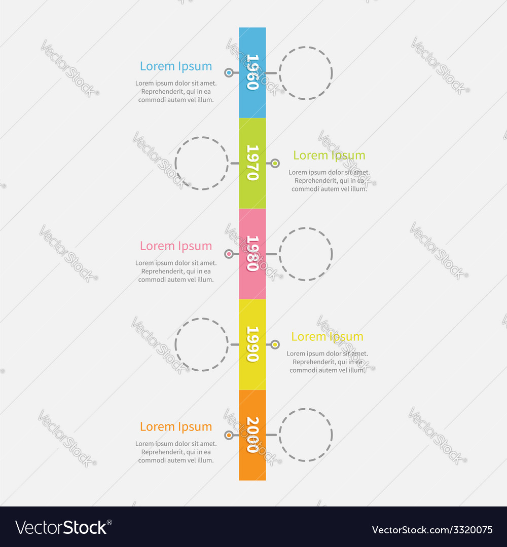 Timeline vertical ribbon infographic with empty vector | Price: 1 Credit (USD $1)