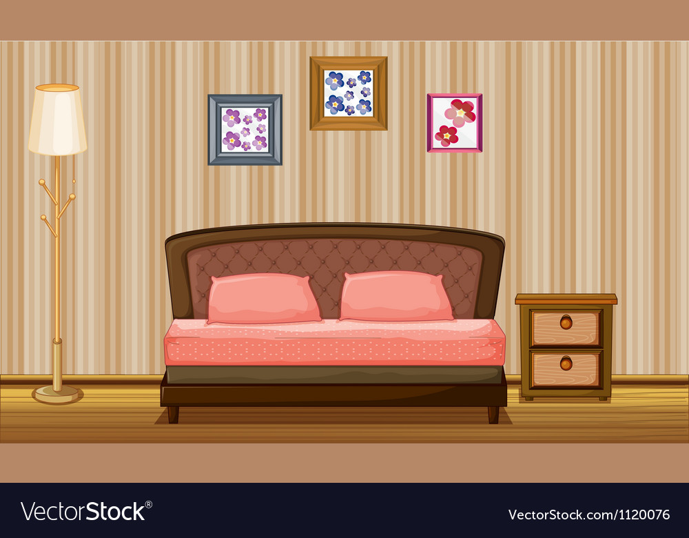 A bed and a lamp vector | Price: 1 Credit (USD $1)