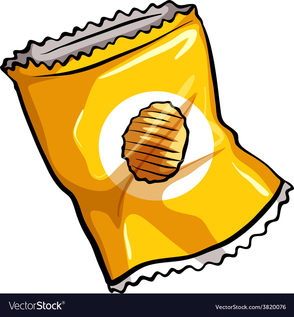 A pouch of chips vector | Price: 1 Credit (USD $1)