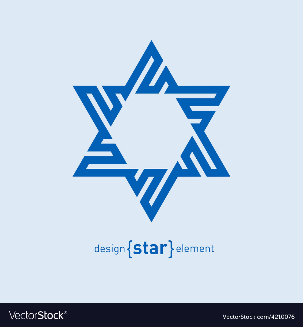 Abstract design element blue david star vector | Price: 1 Credit (USD $1)