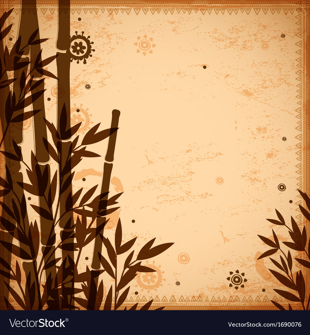 Bamboo vintage for your business vector | Price: 1 Credit (USD $1)