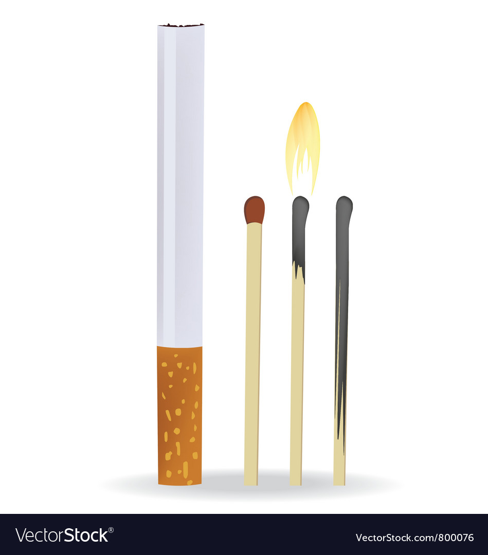 Cigarette and matches vector | Price: 1 Credit (USD $1)