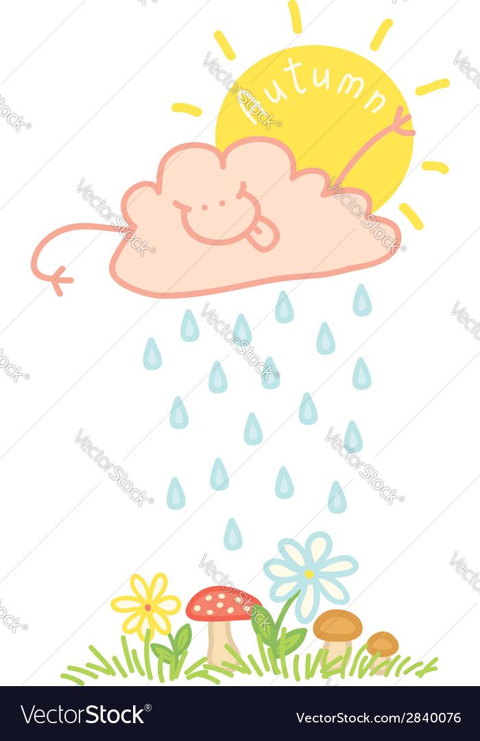Cloud autumn vector | Price: 1 Credit (USD $1)