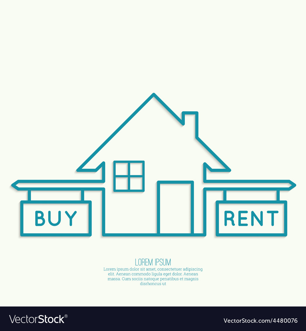Concept of choice between buying and tenancy vector | Price: 1 Credit (USD $1)