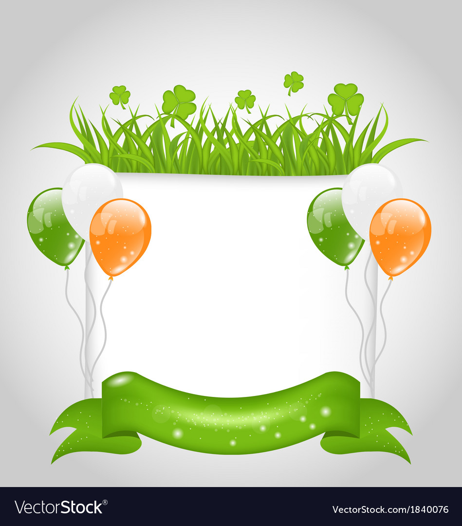 Cute nature background for st patricks day vector | Price: 1 Credit (USD $1)