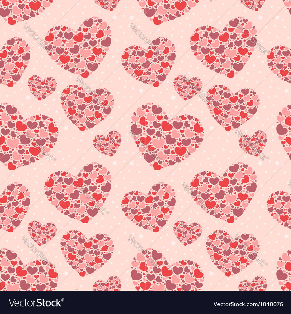 Cute valentine love seamless pattern vector | Price: 1 Credit (USD $1)