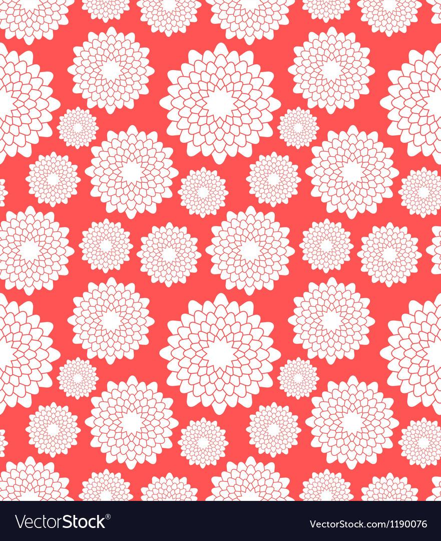 Floral pattern chrysanthemum vector | Price: 1 Credit (USD $1)