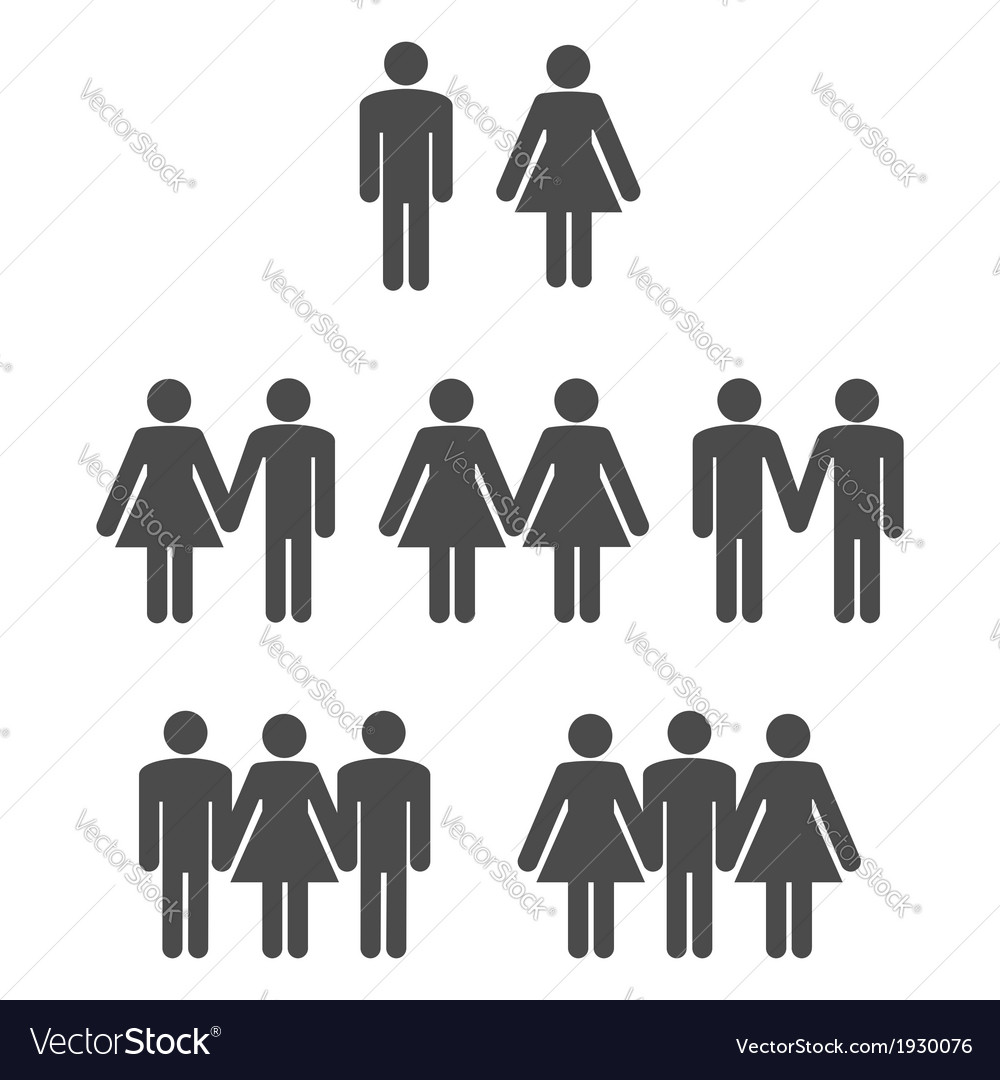 Gender symbol 2 vector | Price: 1 Credit (USD $1)