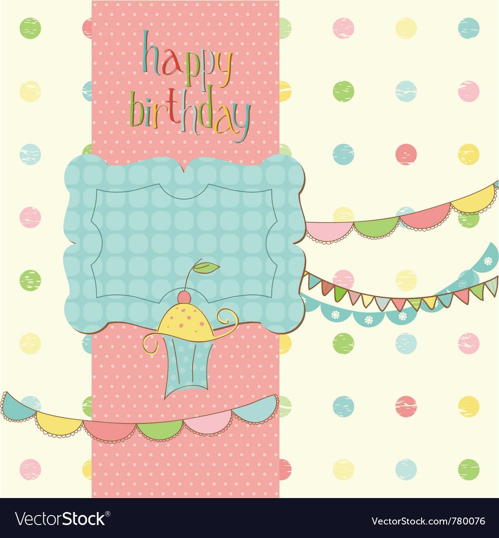 Greeting birthday card vector | Price: 1 Credit (USD $1)