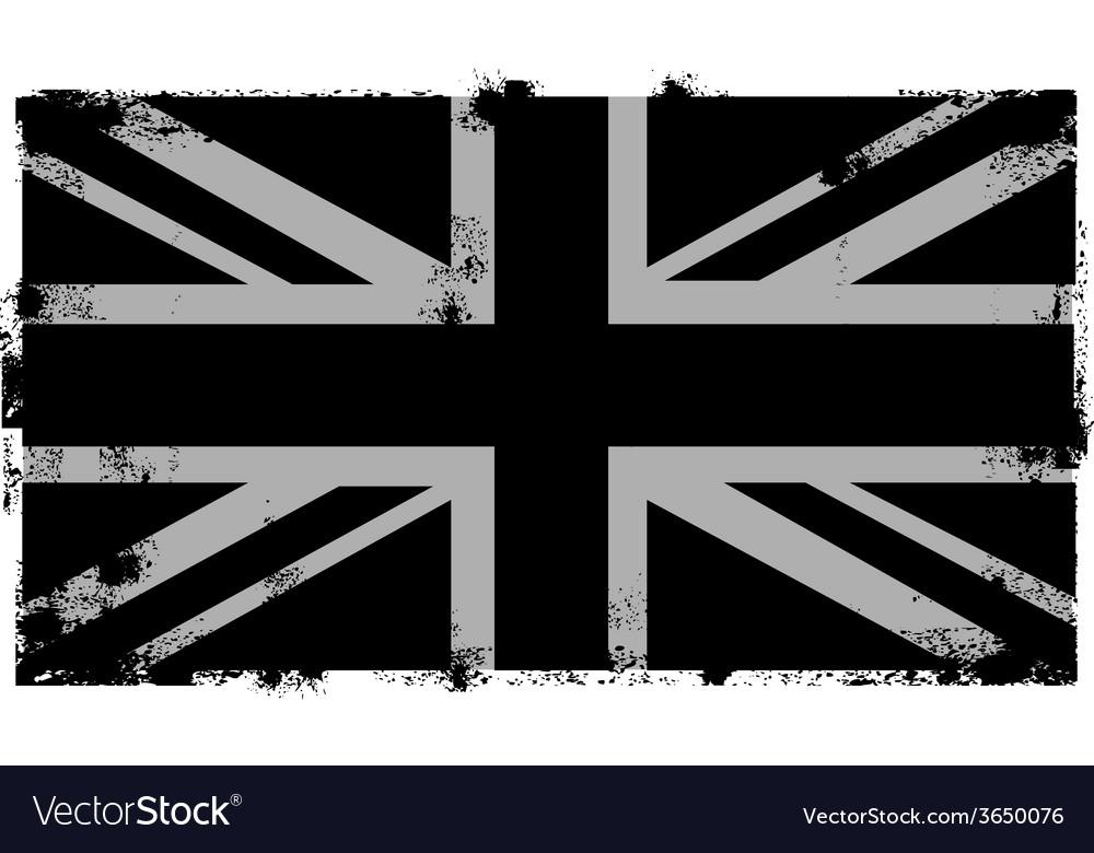 Grunge black british background vector | Price: 1 Credit (USD $1)