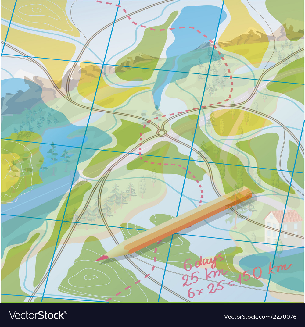 Map to develop a route vector | Price: 1 Credit (USD $1)