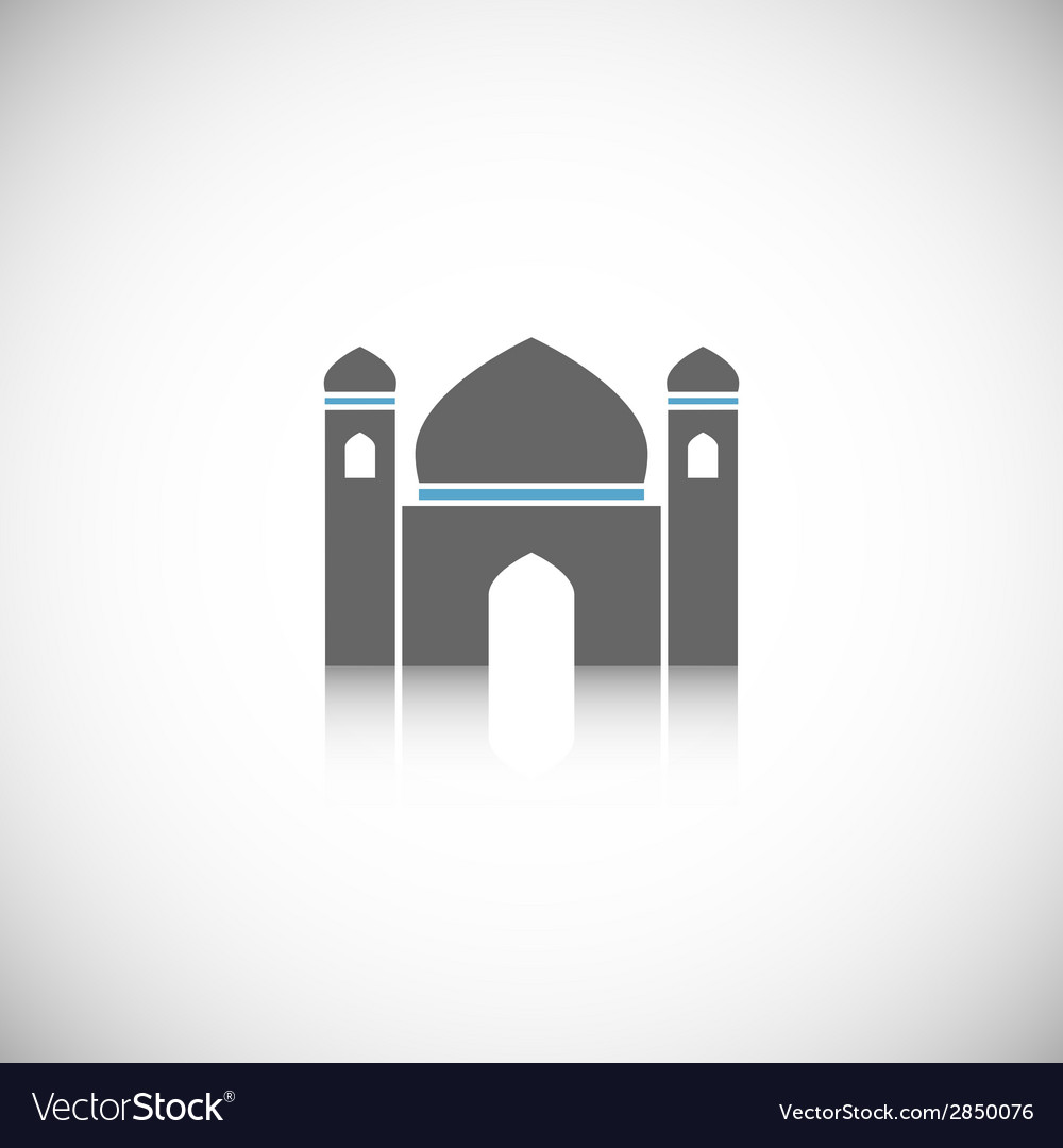 Mosque icon isolated vector | Price: 1 Credit (USD $1)