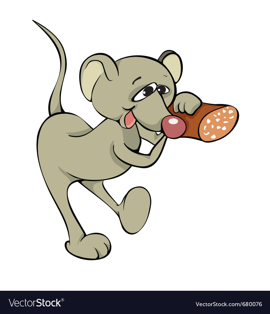 Mouse with sausage vector | Price: 1 Credit (USD $1)