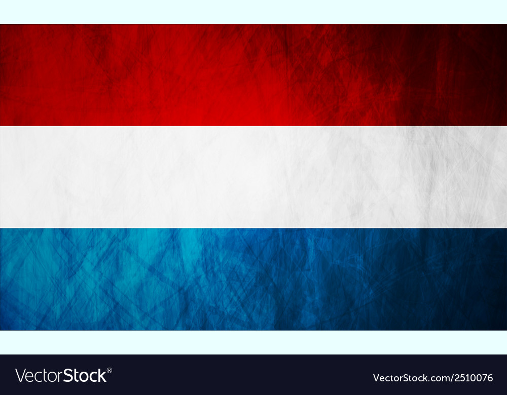 Netherlands grunge flag vector | Price: 1 Credit (USD $1)