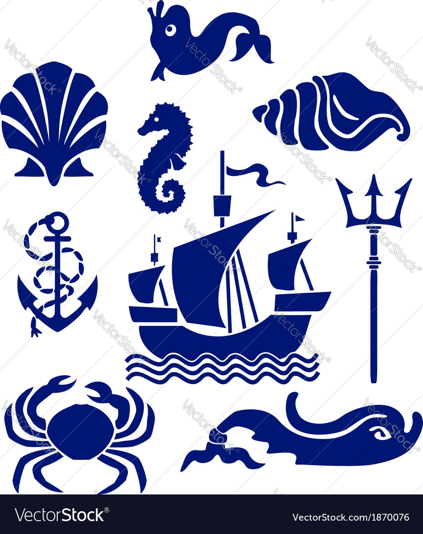 Sea set vector | Price: 1 Credit (USD $1)