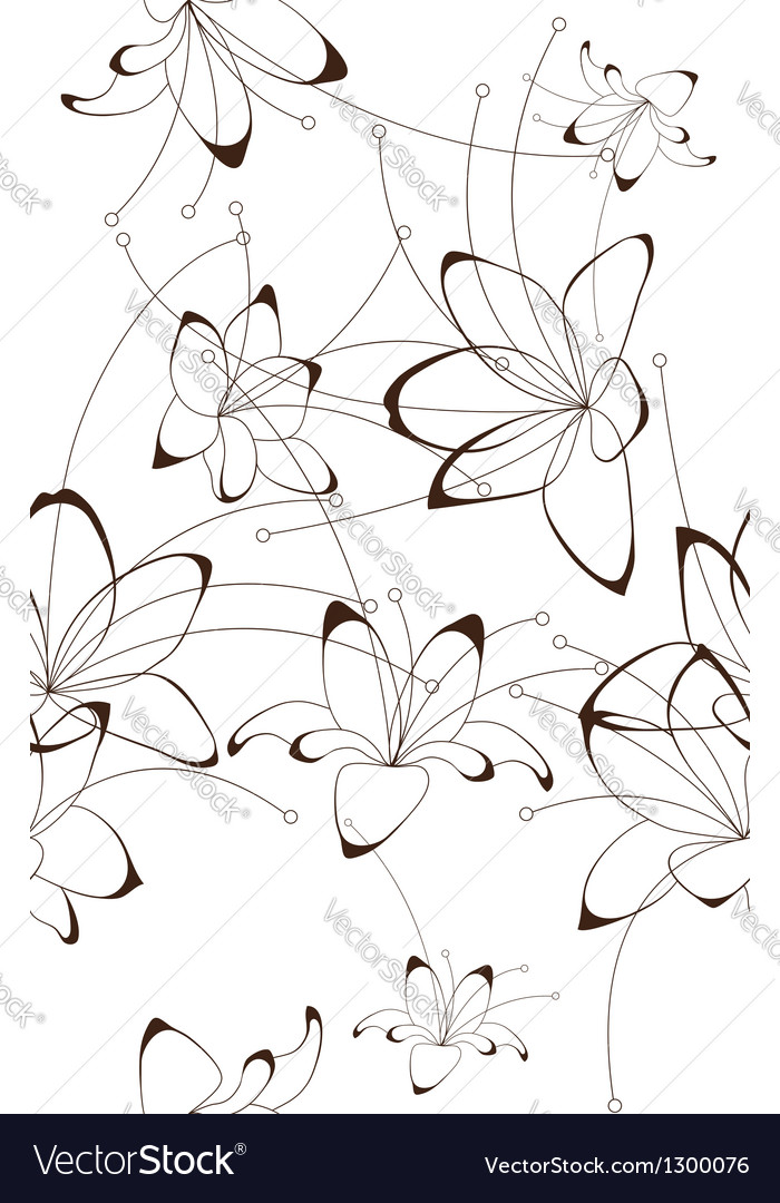 Seamless background floral design vector | Price: 1 Credit (USD $1)