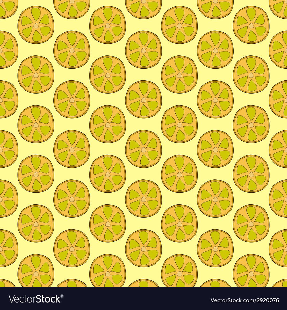 Seamless doodle lemon pattern vector   Price: 1 Credit (USD $1)