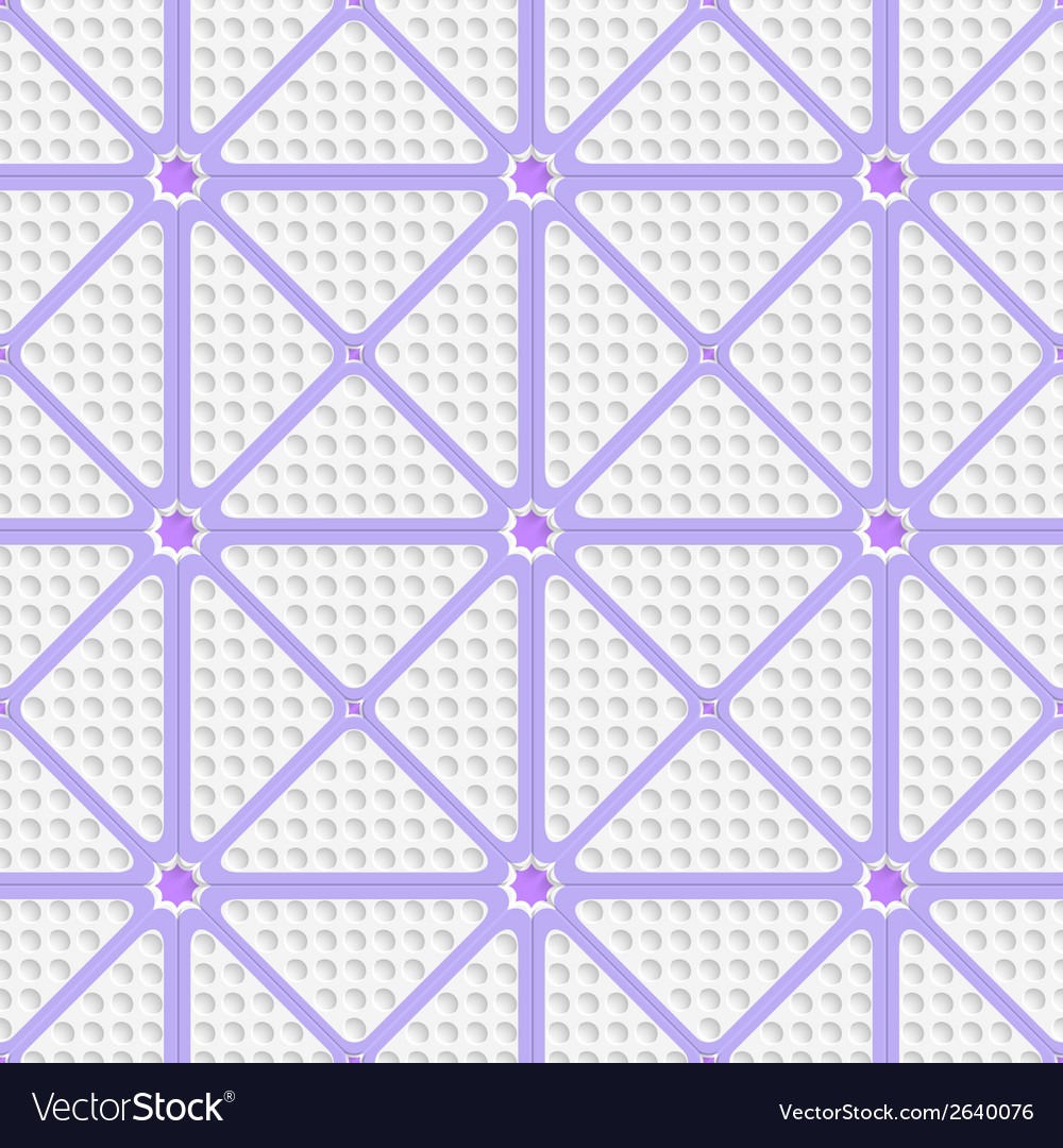 White perforated triangles with purple lines tile vector | Price: 1 Credit (USD $1)