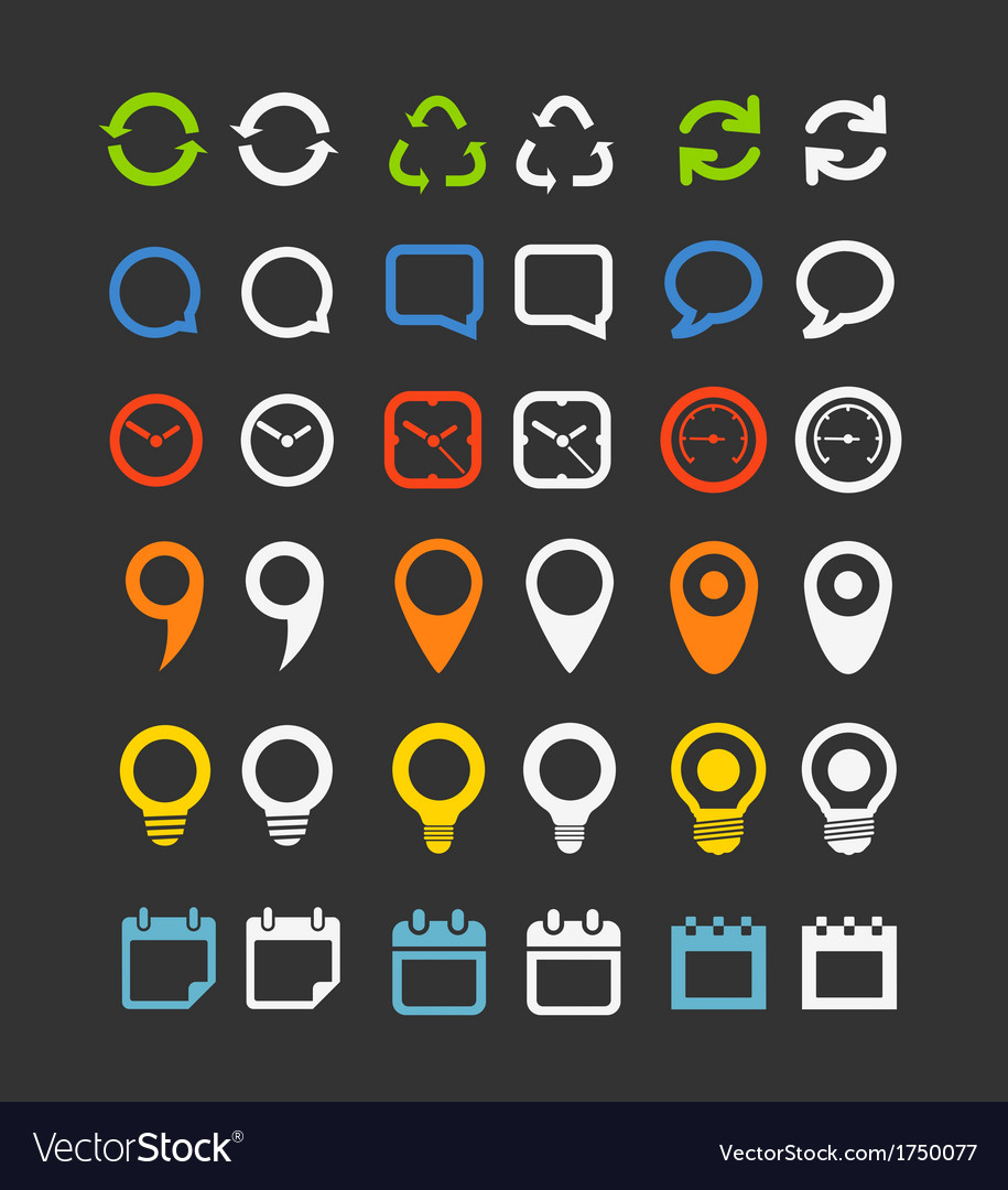 Color collection of web icons vector   Price: 1 Credit (USD $1)