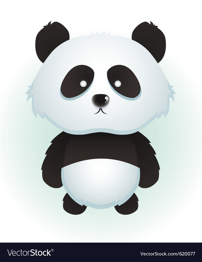 Cute baby panda vector | Price: 1 Credit (USD $1)