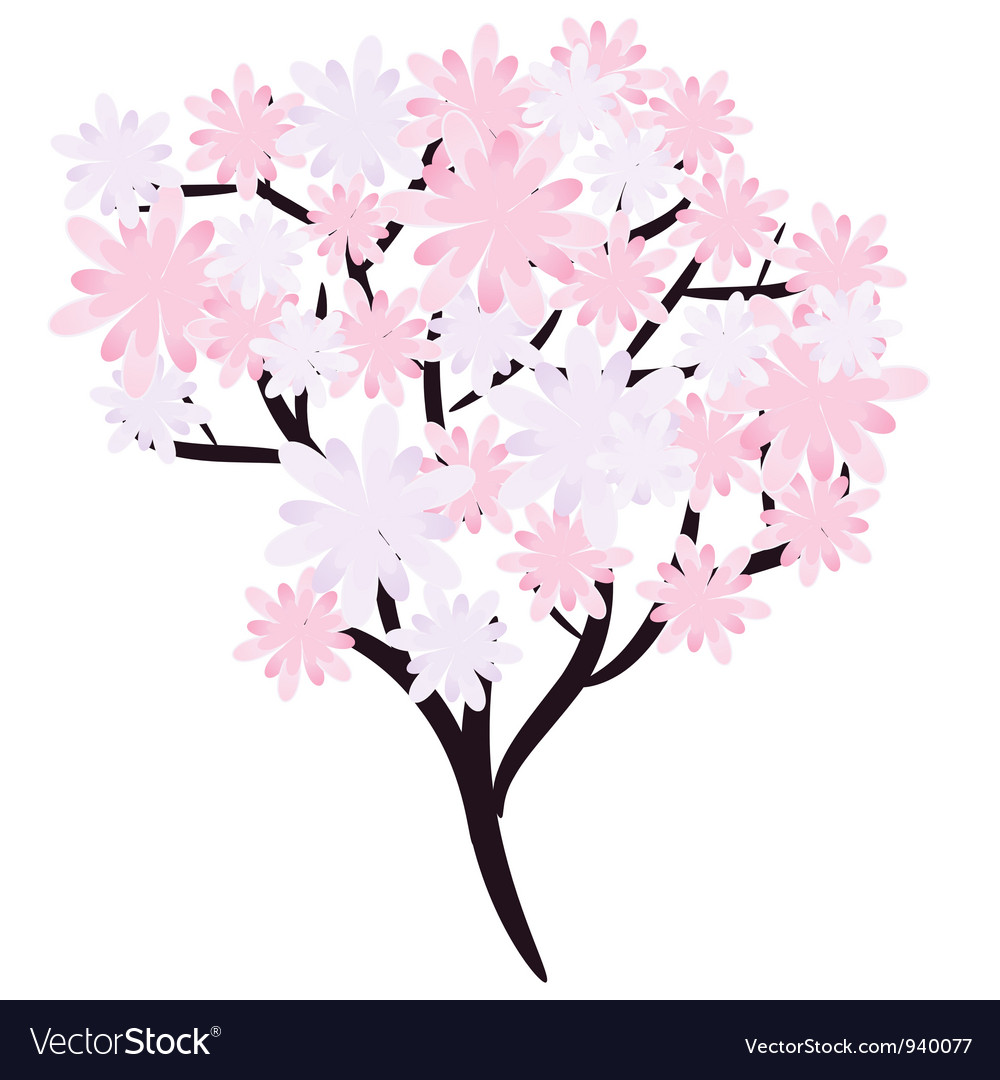 Flowering tree vector | Price: 1 Credit (USD $1)