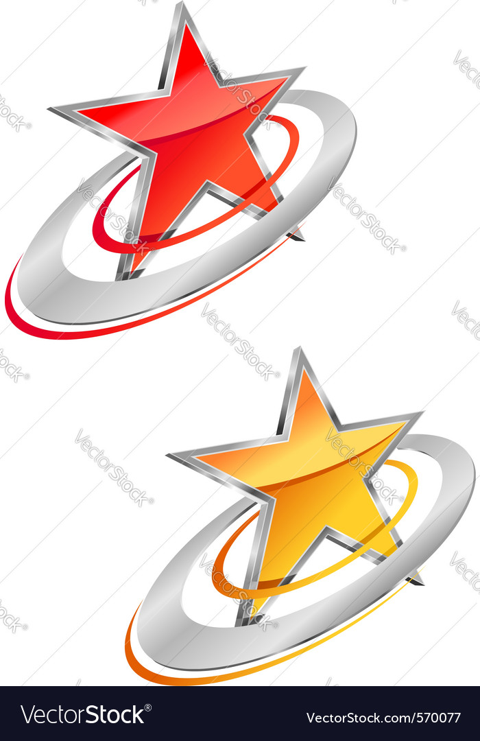 Glossy star symbols vector | Price: 1 Credit (USD $1)