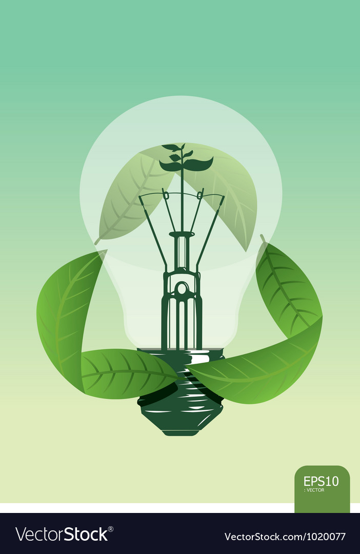 Light save the plant concept vector | Price: 1 Credit (USD $1)