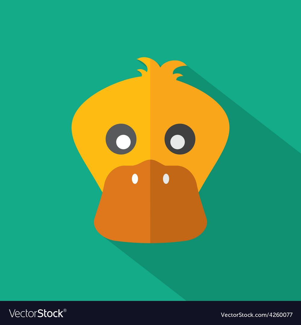 Modern flat design duck icon vector | Price: 1 Credit (USD $1)