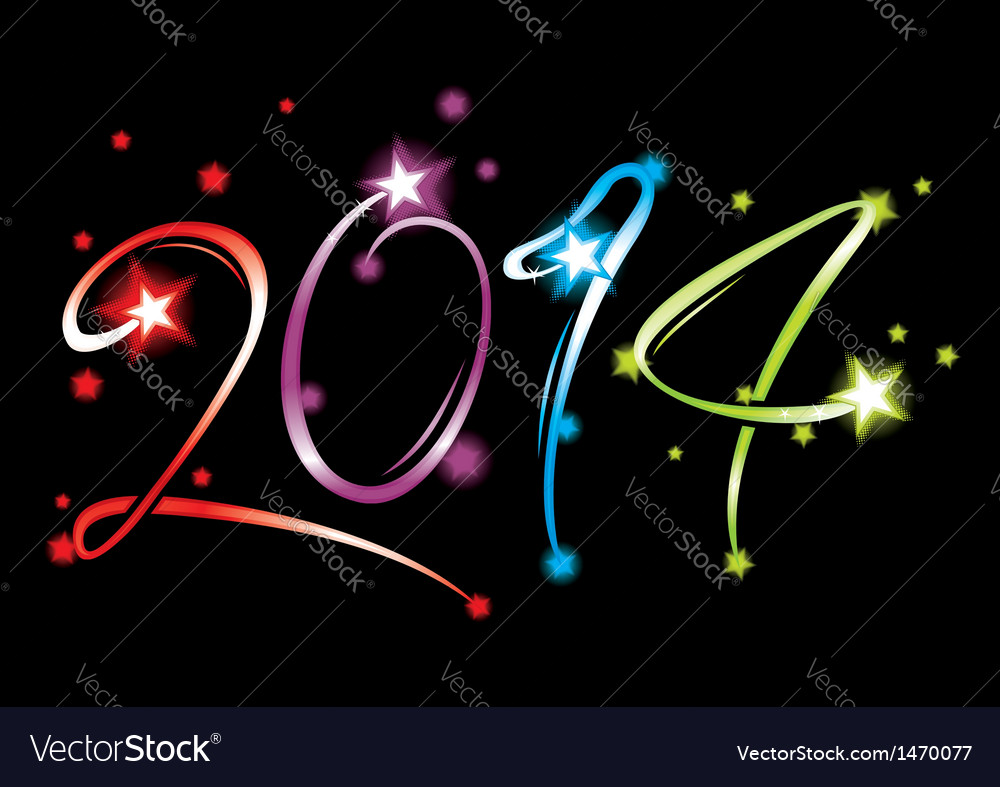 New year 2014 vector | Price: 1 Credit (USD $1)