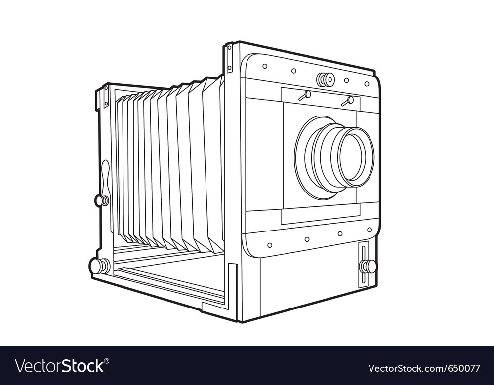 Old classic camera vector | Price: 1 Credit (USD $1)