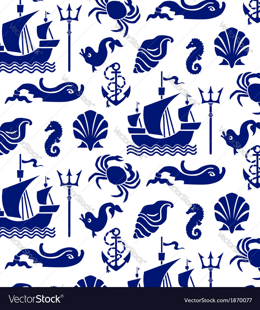 Sea pattern vector | Price: 1 Credit (USD $1)