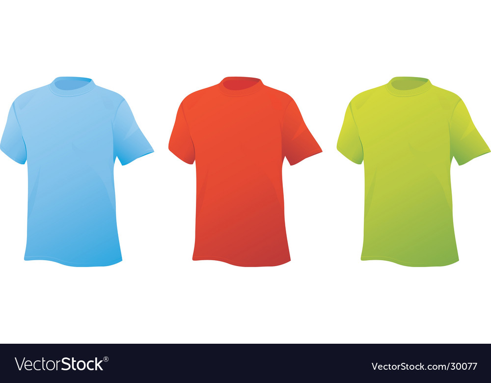 Three sports shirts vector | Price: 1 Credit (USD $1)