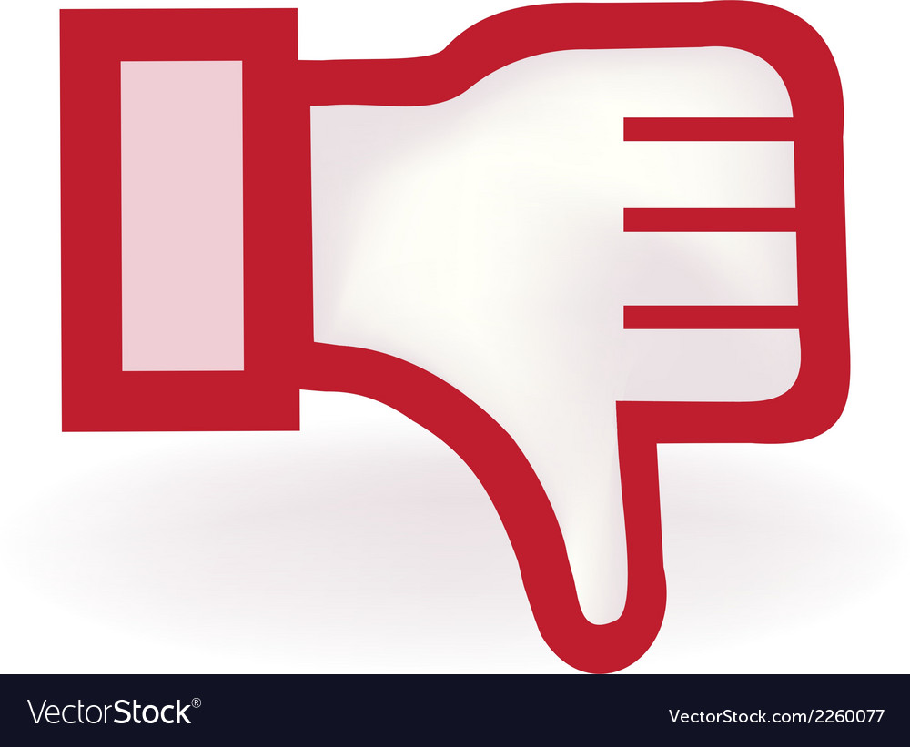 Thumbs down icon vector