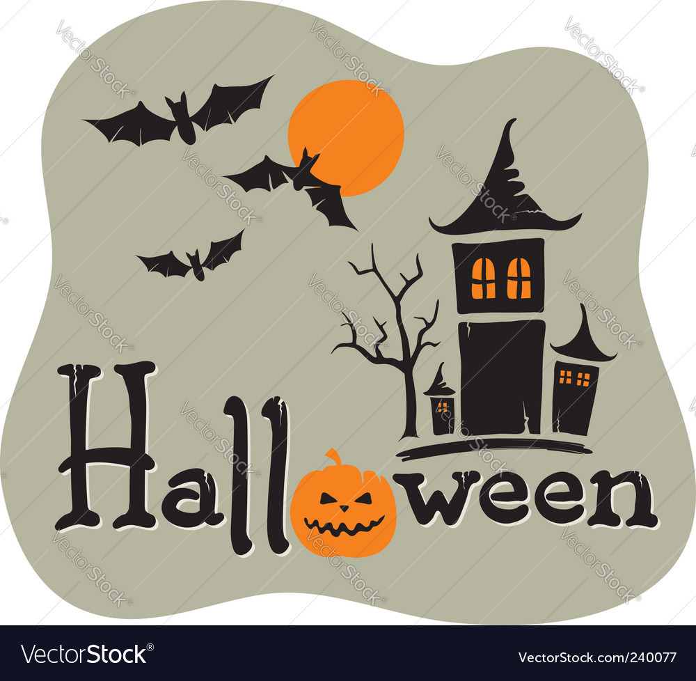 Title halloween with pumpkin vector | Price: 1 Credit (USD $1)