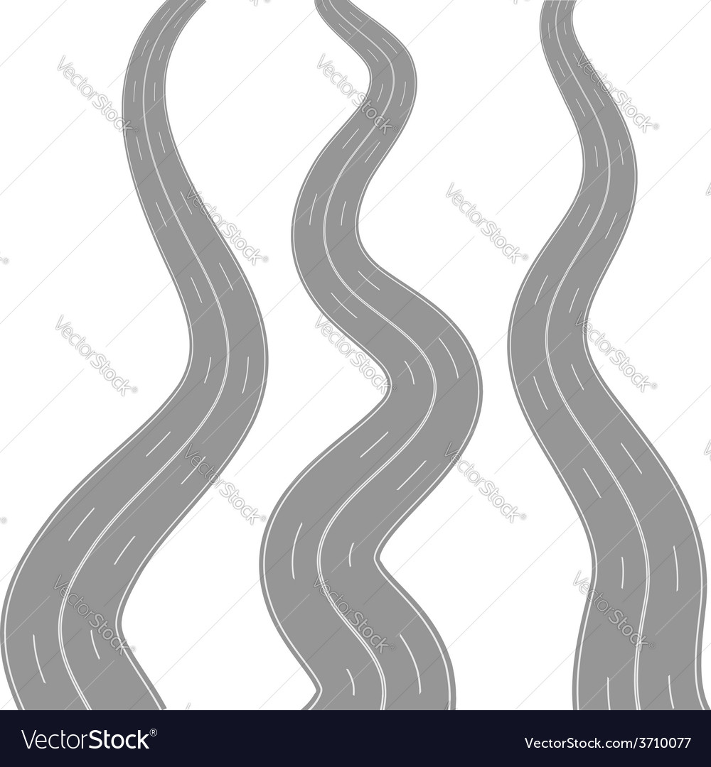 Winding road vector | Price: 1 Credit (USD $1)