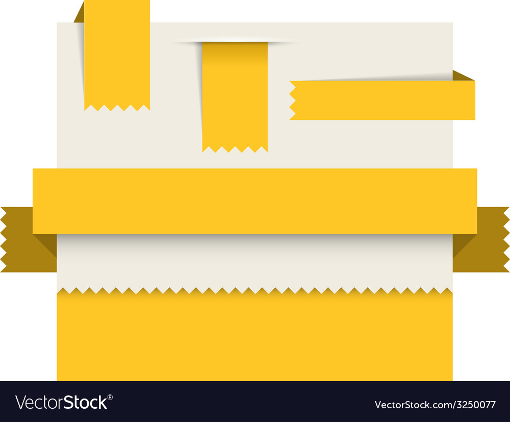 Yellow paper tags - ribbons stripes and bookmars vector | Price: 1 Credit (USD $1)