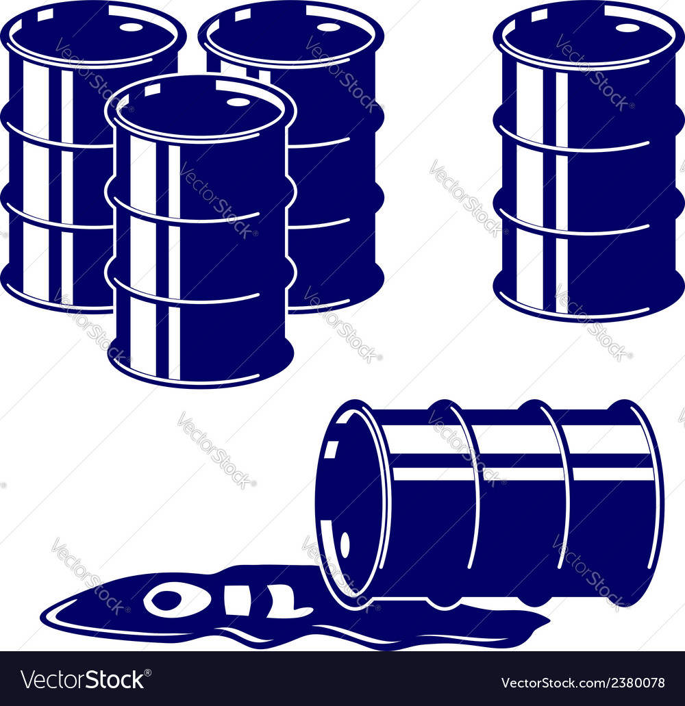 Barrel oil icon set symbol vector | Price: 1 Credit (USD $1)