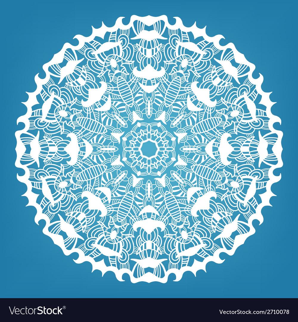 Christmas decorative lace ornament vector   Price: 1 Credit (USD $1)