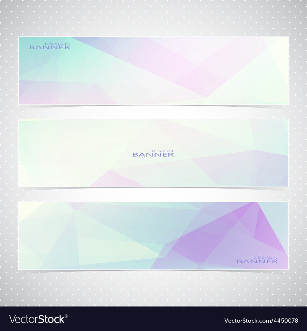 Colorful horizontal set of banners with vector | Price: 1 Credit (USD $1)