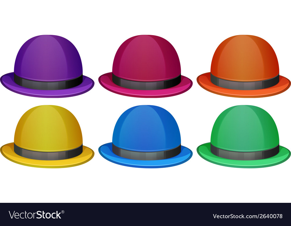Colourful hats vector | Price: 1 Credit (USD $1)