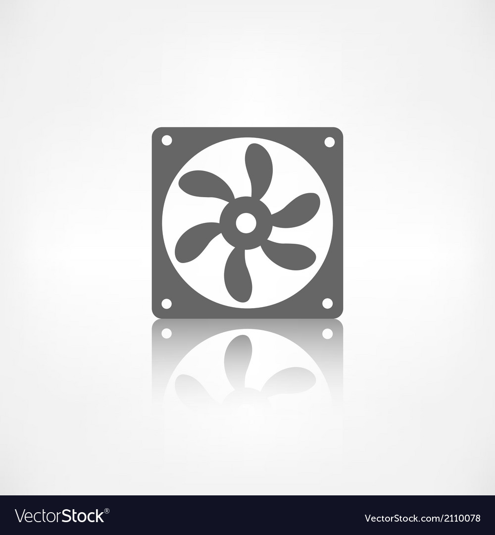 Computer cooling fan icon vector | Price: 1 Credit (USD $1)