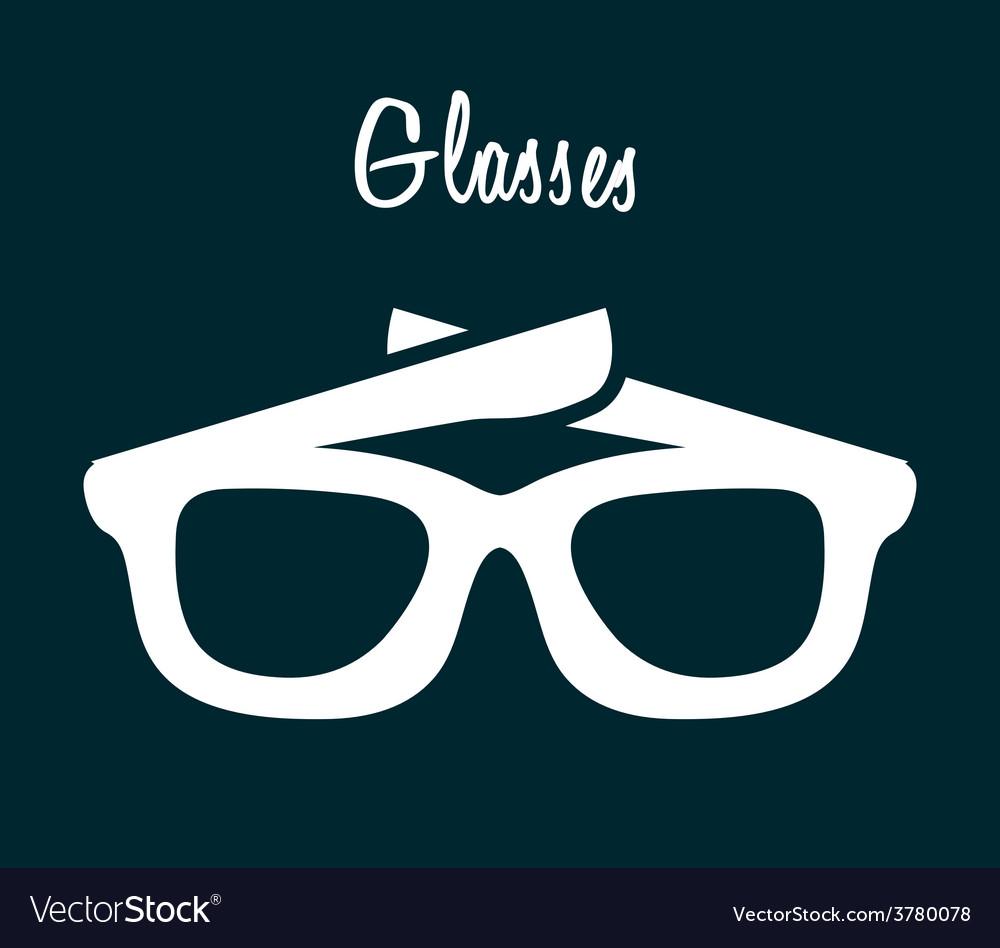 Glasses icon vector   Price: 1 Credit (USD $1)