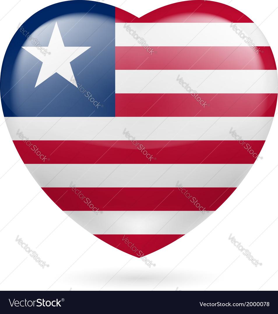 Heart icon of liberia vector | Price: 1 Credit (USD $1)