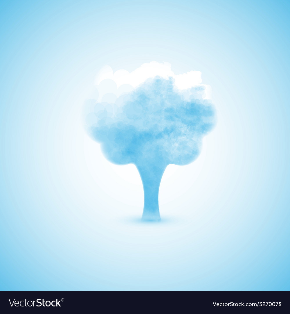 Loud in the form of a tree vector | Price: 1 Credit (USD $1)