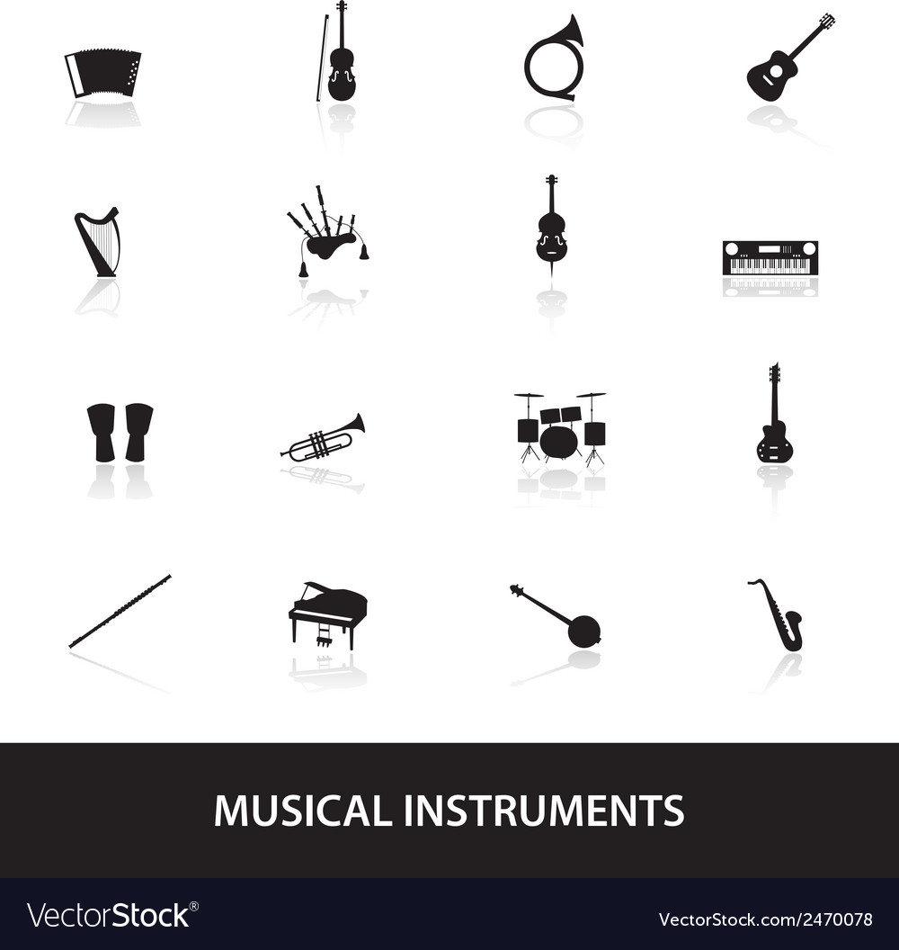 Musical instruments eps10 vector | Price: 1 Credit (USD $1)